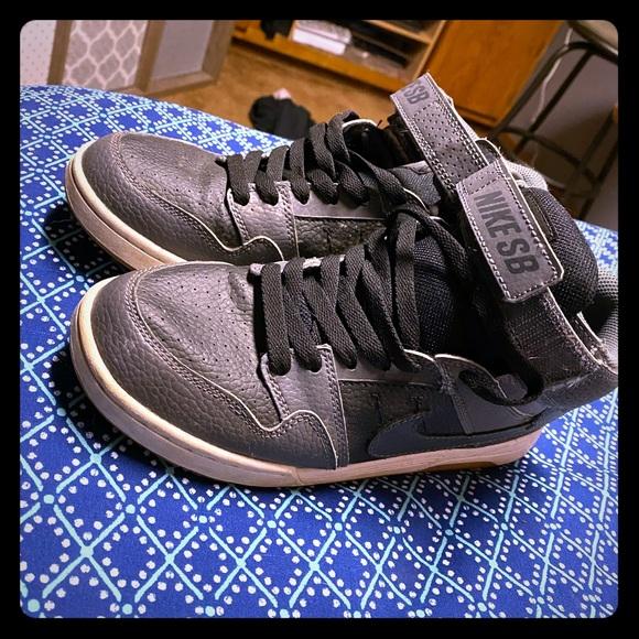 Nike Shoes   Gray Black Sb High Tops